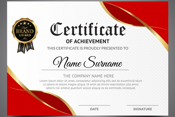 50 Multipurpose Certificate Templates And Award Designs For Business And Personal Use Certificate Design Template Awards Certificates Design Certificate Design