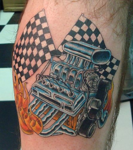 Small Engine Tattoo: CHEVY BIG BLOCK ENGINE Tattoos - Google Search