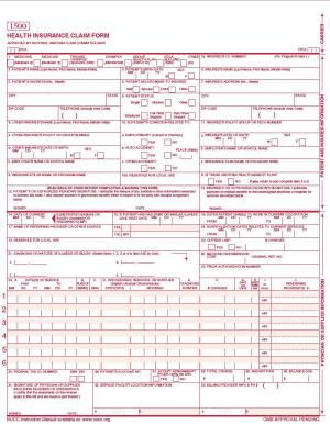 Cms 1500 Claim Form Info And Tips Health Insurance Laser