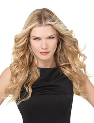 Natural Mixed Light Brown 7 pcs Wavy Clip In Full Head Set Hair Extensions Free Shipping - www.aliwigs.com