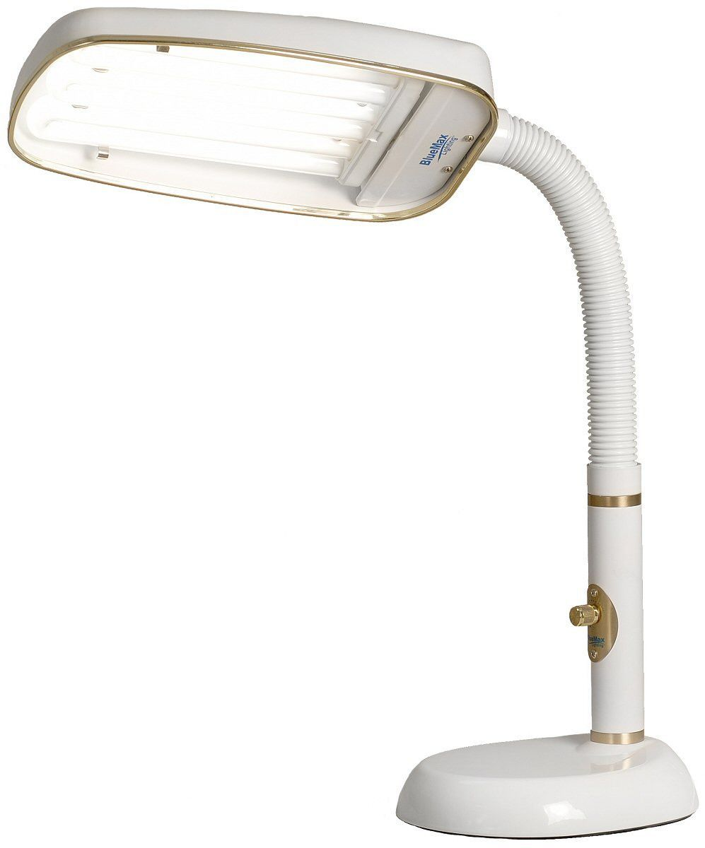 0 000314 Bluemax 1 Light Full Spectrum Desk Lamp White Desk Lamp