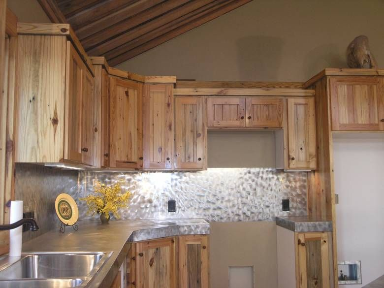 Southern Yellow Pine - Kitchen Cabinets | CABIN KITCHEN | Pinterest ...