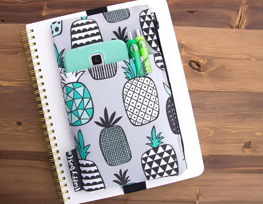 Planner Pocket Pouch Planner Accessories Planner Cover Pouch Bible Cover Pouch Bullet Journal Cover Planner Organizer Planner Case
