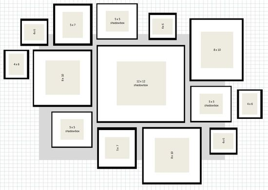 How To: IKEA Ribba Frame Gallery Wall. Would like to do this with my ...