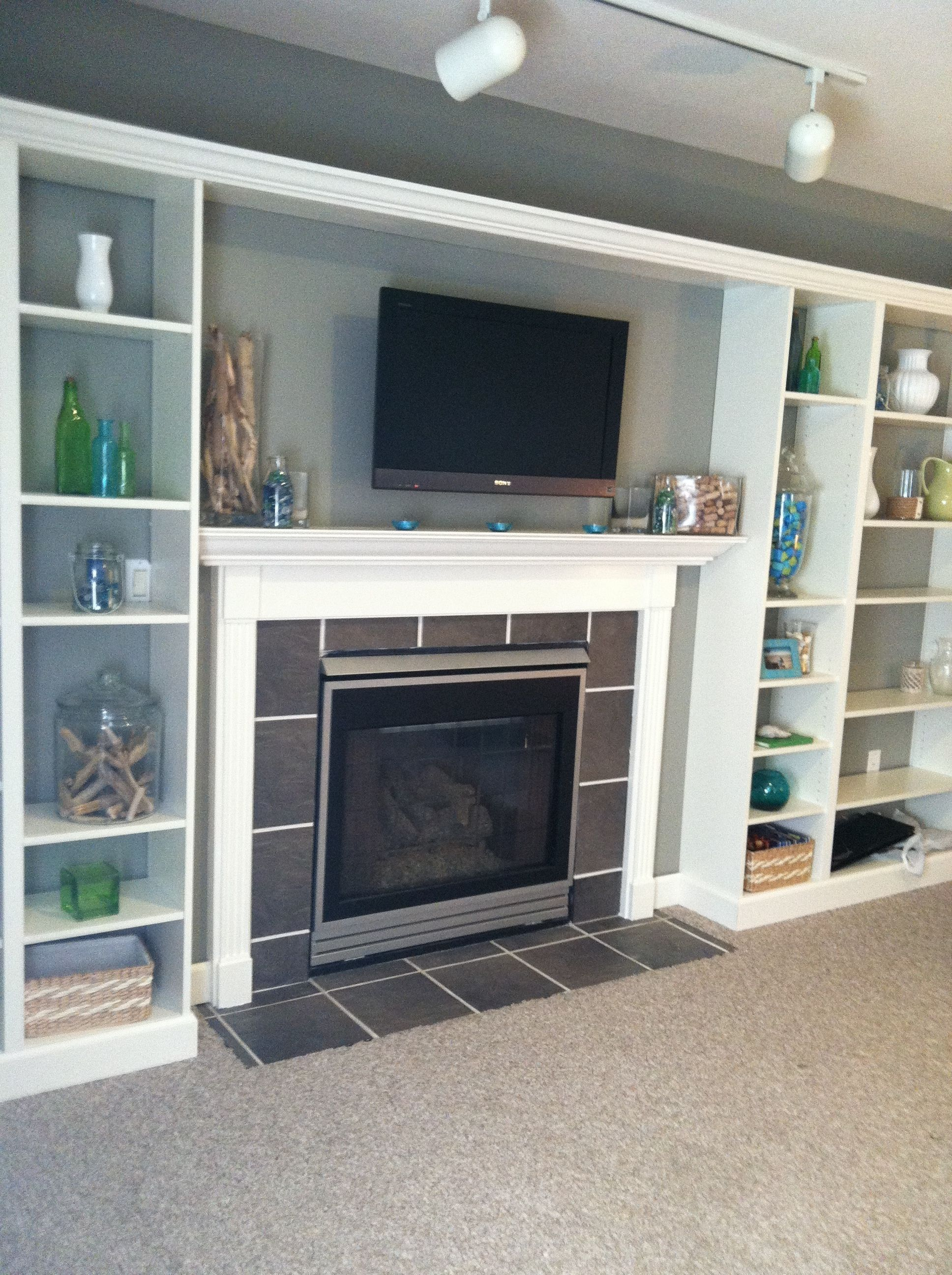 Faux Built In Billy Bookcase Ikea Hack Fireplace Built Ins