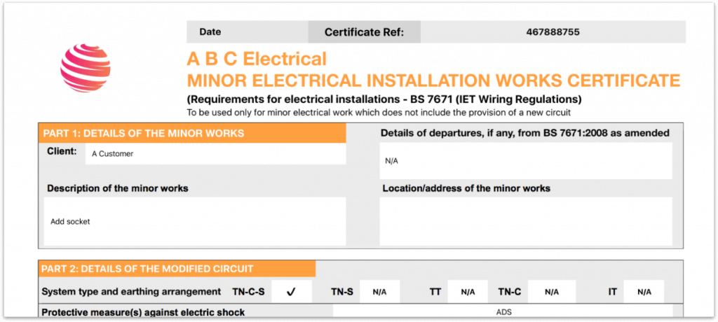 Learn How To Add Both Company And Electrical Scheme Provider Logos With Icertifi Electrician Http Electrical Certificate Electrical Installation Electricity