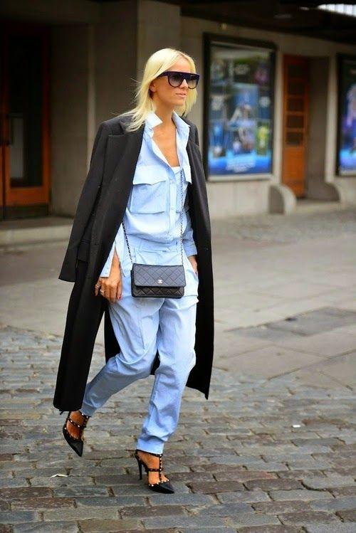 Parisienne: Add heels to a tomboy look