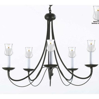 Harrison Lane Versailles 5 Light Candle-Style Chandelier