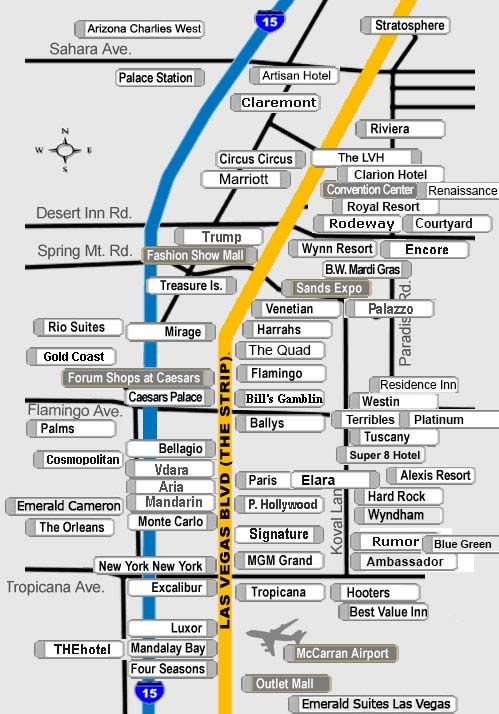 Las Vegas Strip Hotel Map Find The Latest Deals And Promotions
