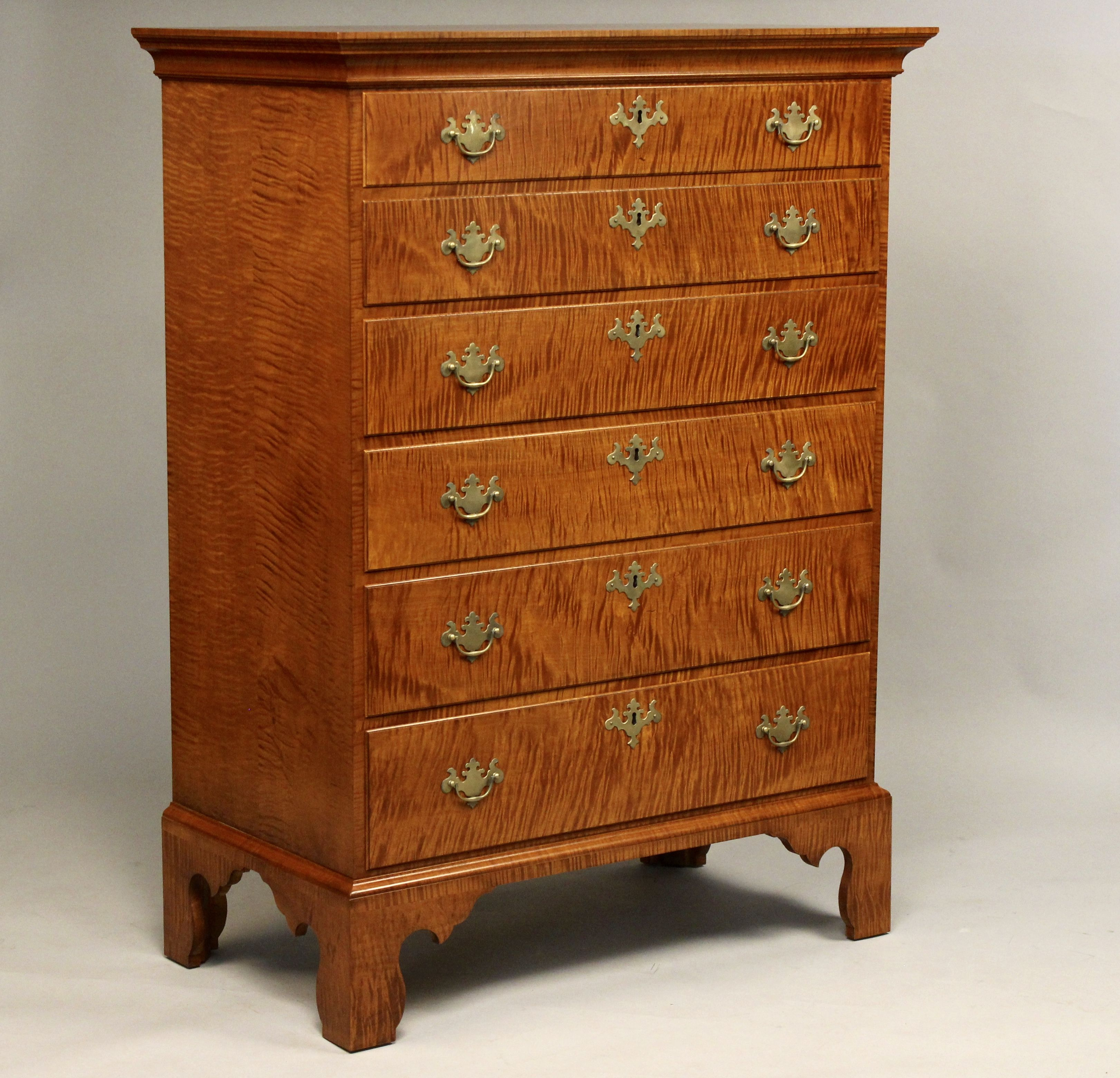 Tiger Maple Chest Of Drawers Woodworking Courses Woodworking Woodworking School