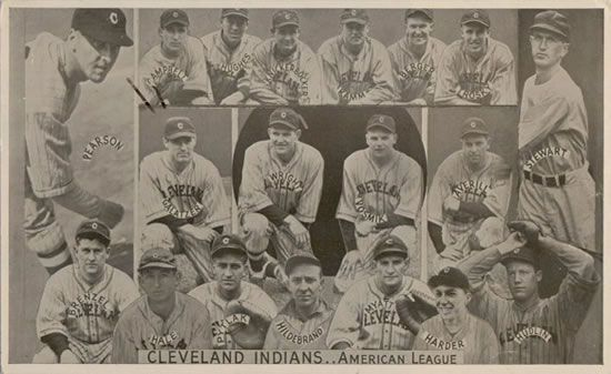 1935 Goudey Premiums R309-2 #2 Cleveland Indians Front