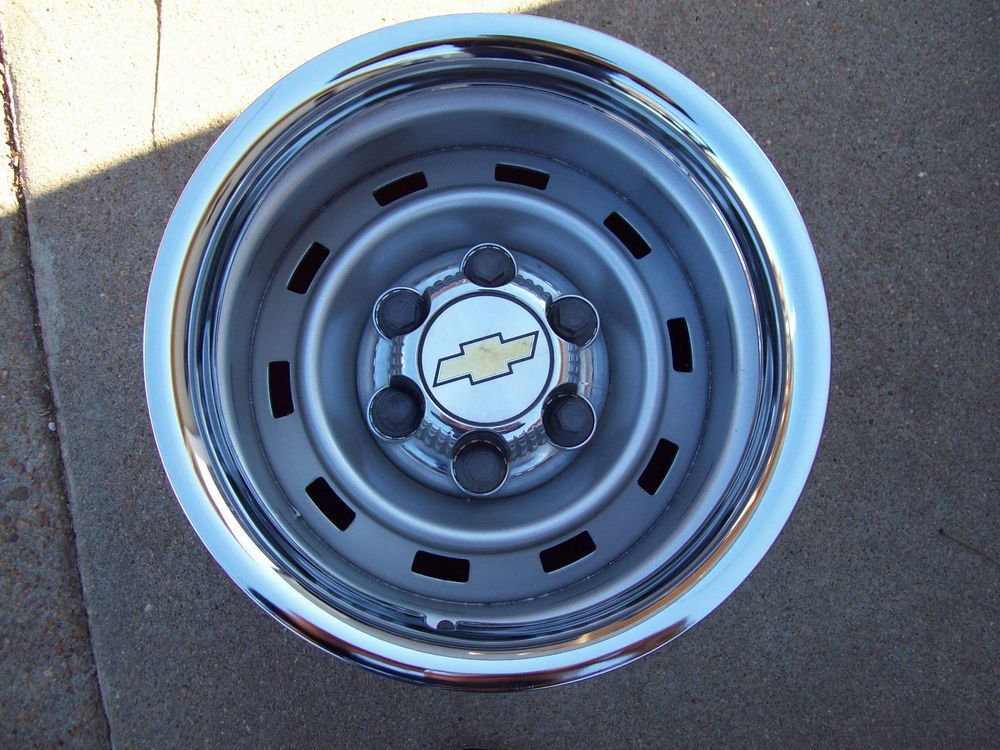 Chevy Truck Rally Wheels 15x8 Chevy Trucks Chevy Wheels Chevy