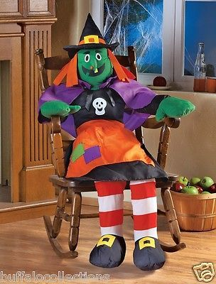 Stuffable 4 Ft Tall Silly Witch Porch Home Greeter Halloween - fun halloween ideas