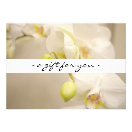 White orchids customizable printed gift certificate template for white orchids customizable printed gift certificate template for salons spas massage therapists and more yadclub Choice Image