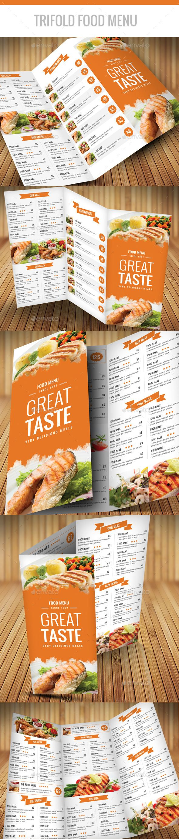 Trifold food menu a4 photoshop psd flyer menu templates trifold food menu a4 photoshop psd flyer menu templates available here pronofoot35fo Choice Image