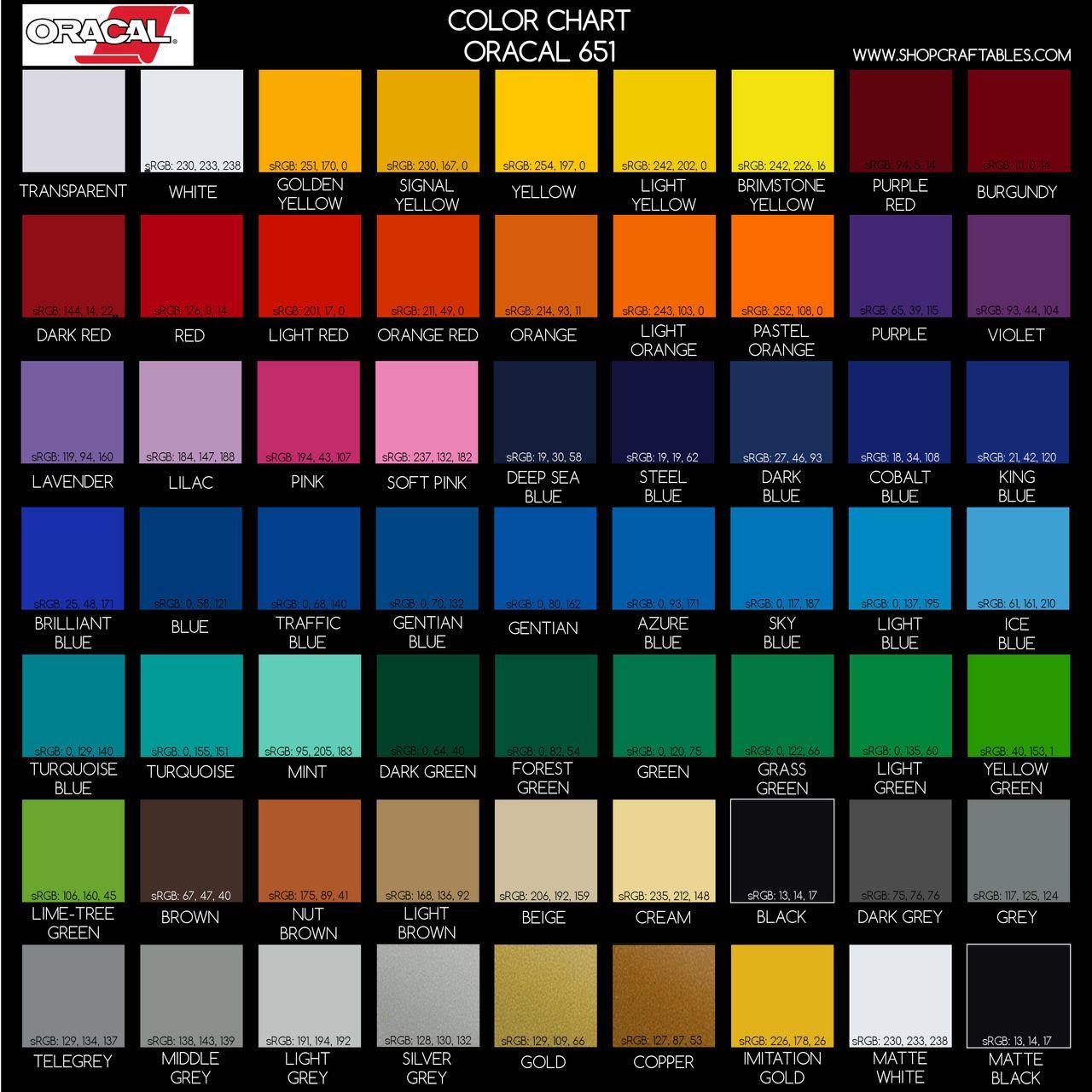 Oracal 651 Sheets By Color 12 X12 Single Sheet And Bulk Packs Shop Craftables Vinyl Rolls Vinyl Cricut Vinyl
