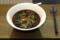 Soupe. Soupe miso. Soupe japonaise. Tofu. Algues. Citronnelle.