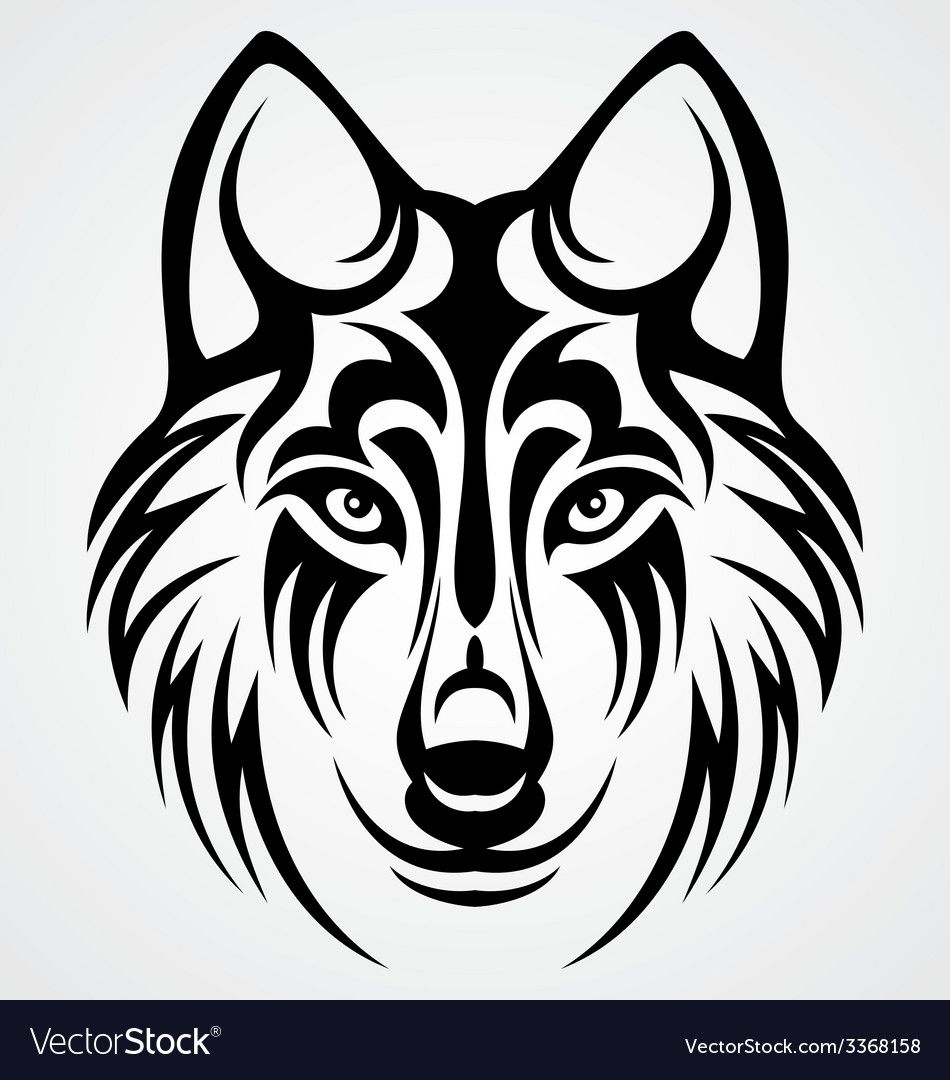 Wolf Stencil Eps Free Vector Download