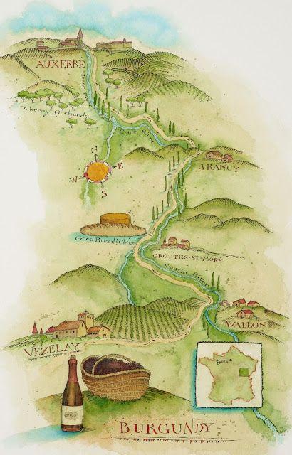 Vezelay France Map.Vezelay France Map Maps Map Antique Maps David