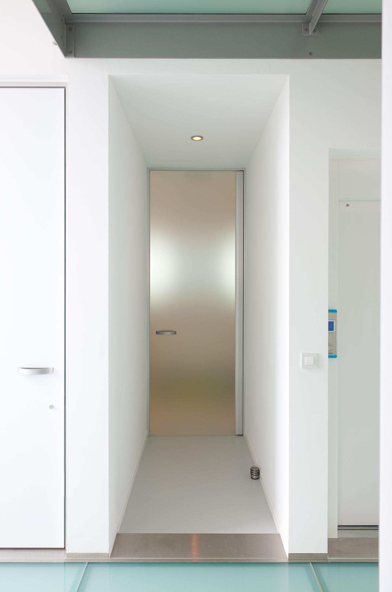 Glass Interior Door With Matte Satin Etched Glass Glazen Deur