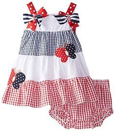 Rare editions red white and blue dress