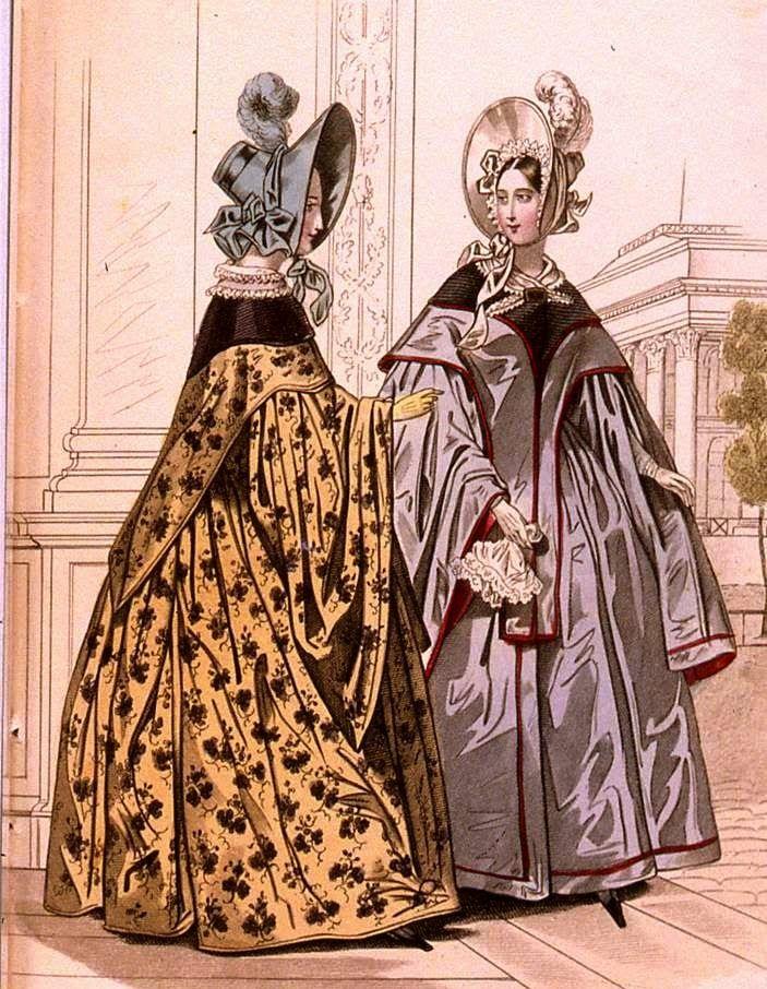 historia del traje: 27. Romanticismo (II): el traje globular 1825-1836