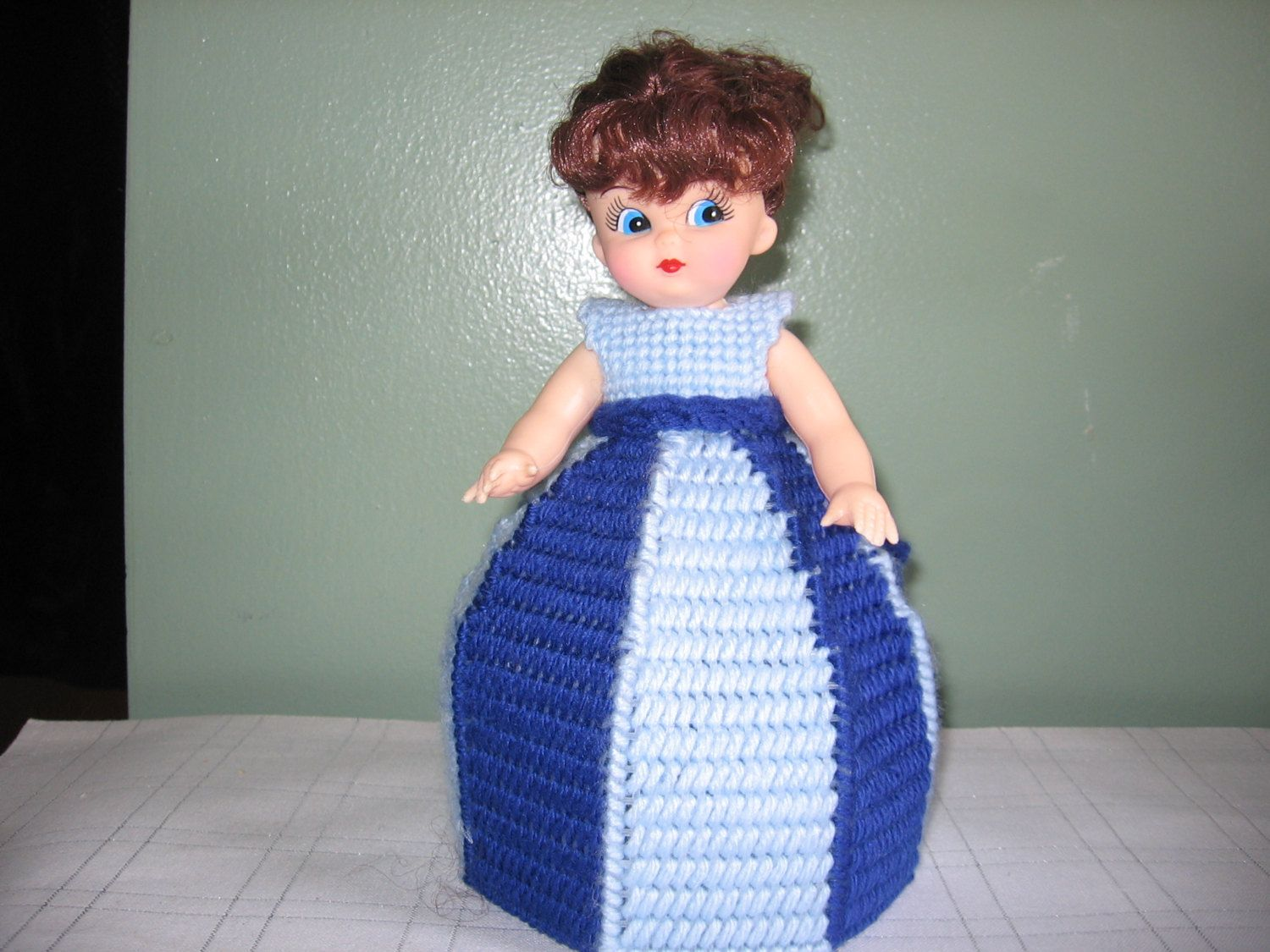 Royal Blue/Light Blue Collectible Doll - use for decoration or Air Freshner!! by CreationsbyAMJ on Etsy #airfreshnerdolls