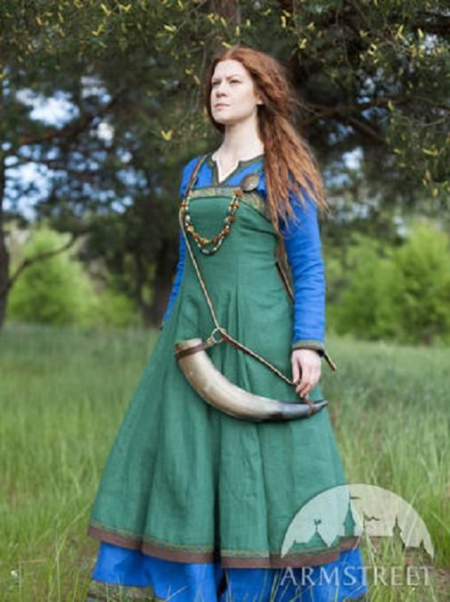 "Viking Linen Apron ""Ingrid the Hearthkeeper"" http://armstreet.com/store/medieval-clothing/viking-linen-apron-ingrid-the-hearthkeeper?pp=1"