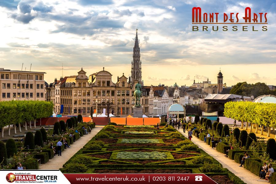 """The Kunstberg or Mont des Arts, meaning  """"hill/mount of the arts"""",  is a historic site in the center of Brussels, Belgium. 