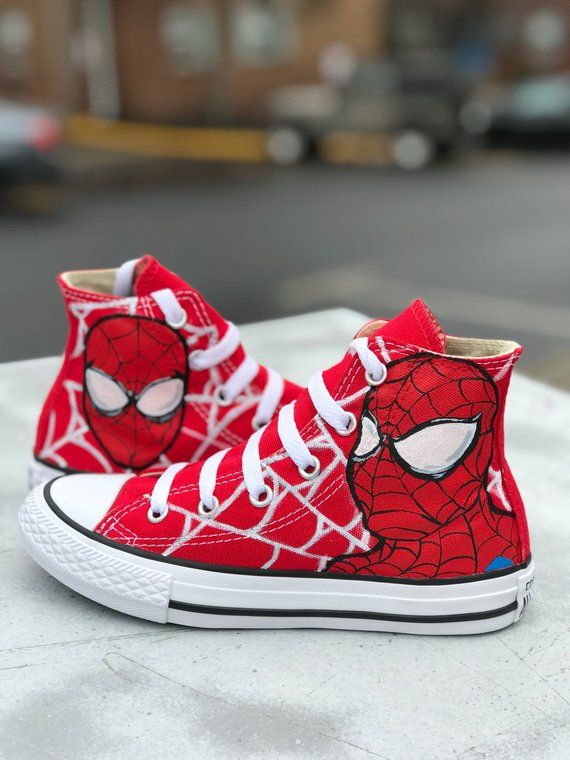 86ba387073119 Spider-Man toddler/kids Converse in 2019 | Products | Kids converse ...