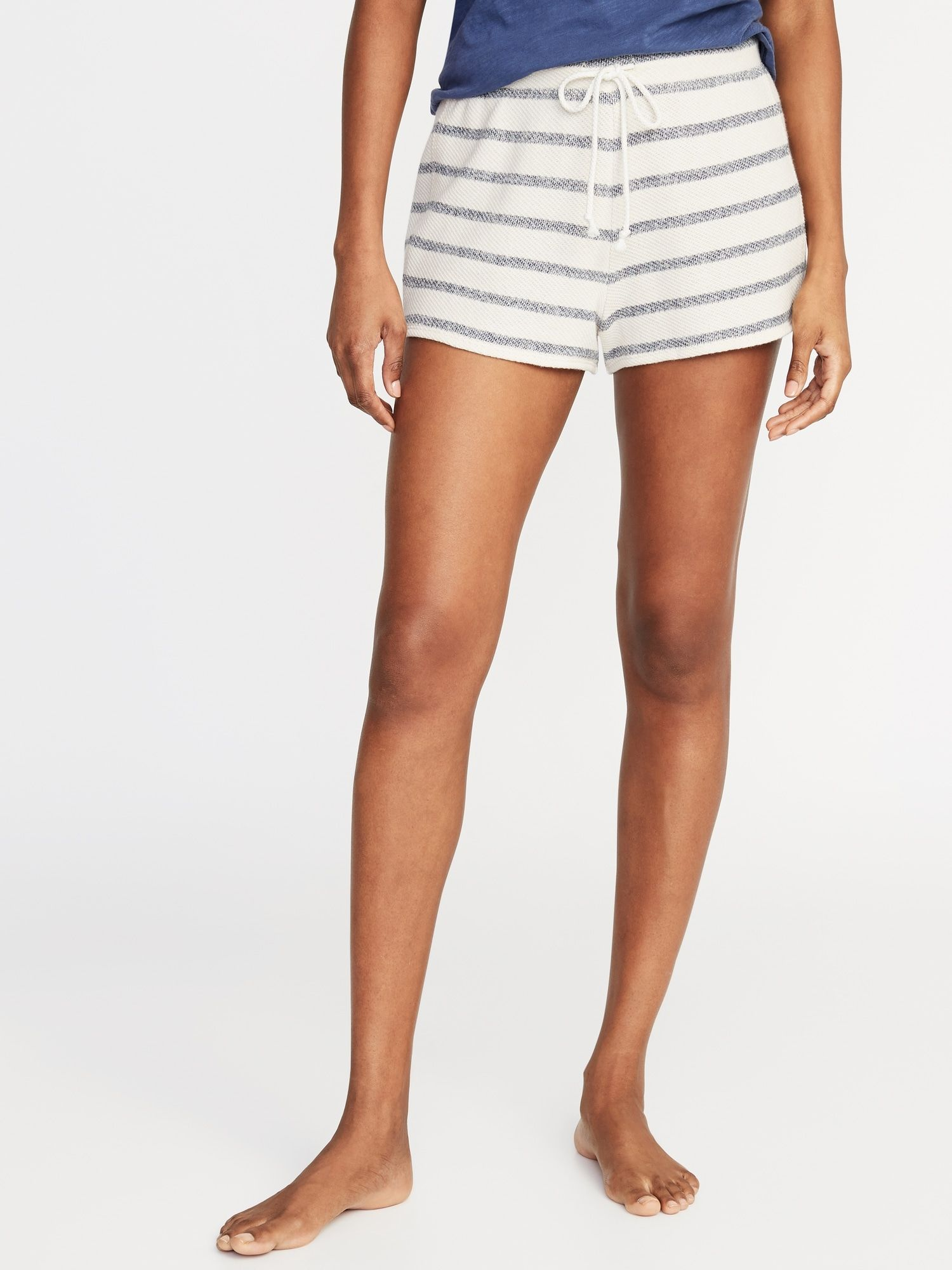 Striped CaliFleece Shorts for Women Old Navy Pajamas