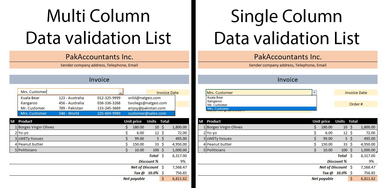 Multiple Column Data Validation Lists In Excel How To Data