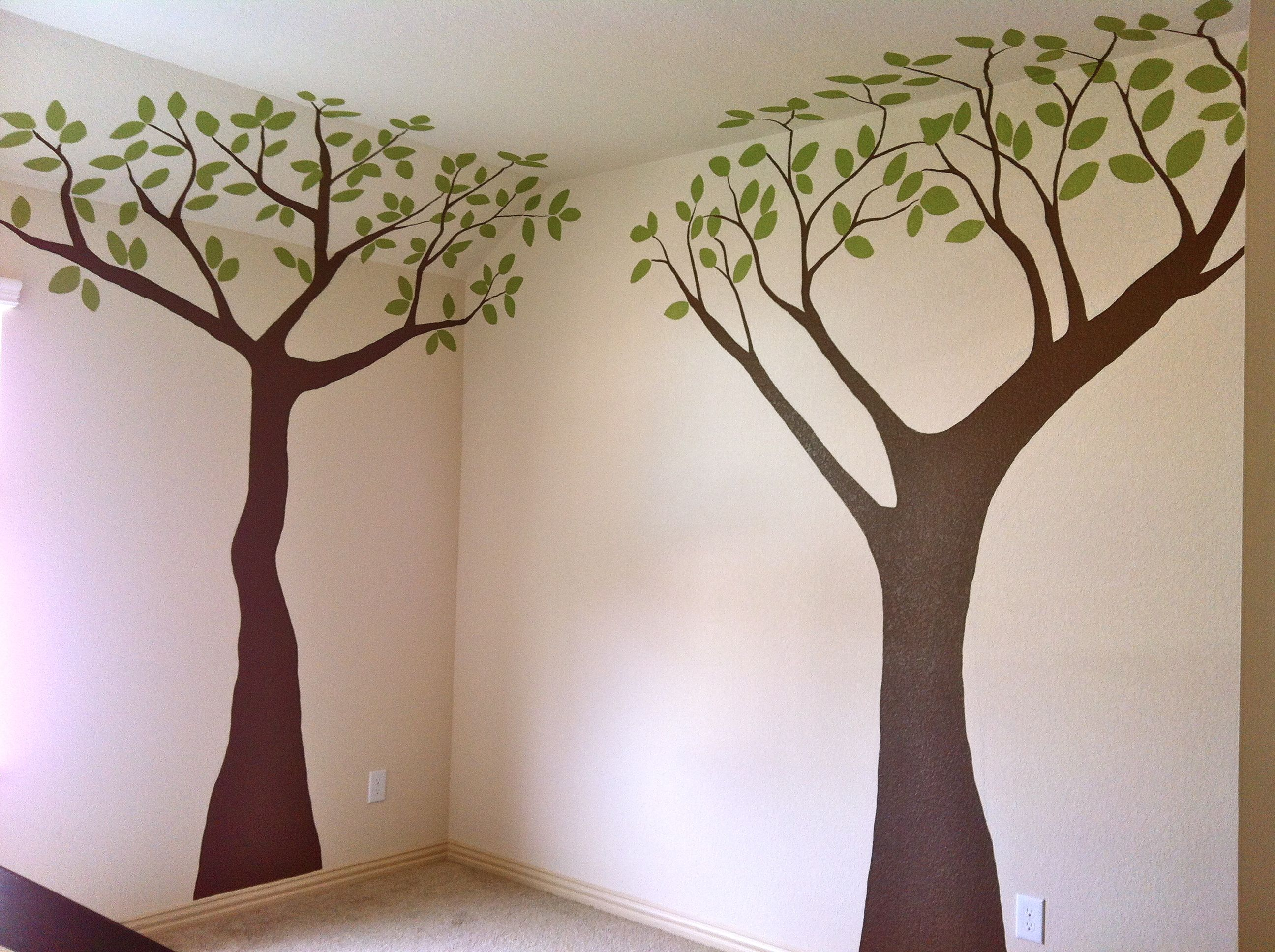 Custom nursery mural of safari trees avery o design custom wall custom nursery mural of safari trees amipublicfo Image collections