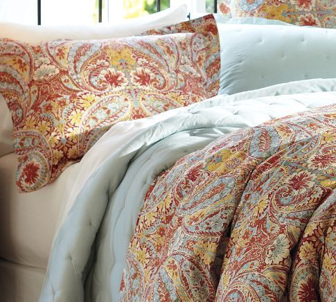 Pottery Barn Bella Paisley Duvet Cover In Red Yes I Have This On