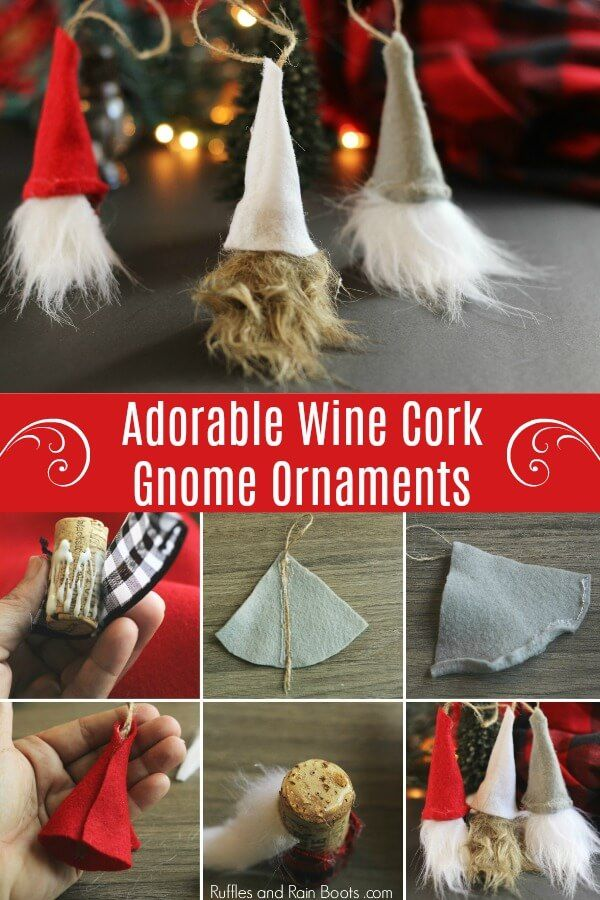 DIY Swedish Gnome Ornaments from Wine Corks - Holiday Fun ...
