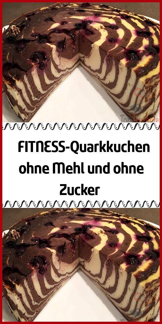 FITNESS-Quarkkuchen ohne Mehl und ohne Zucker #Fitness food fruit #Fitness food rezepte #FITNESSQuar...