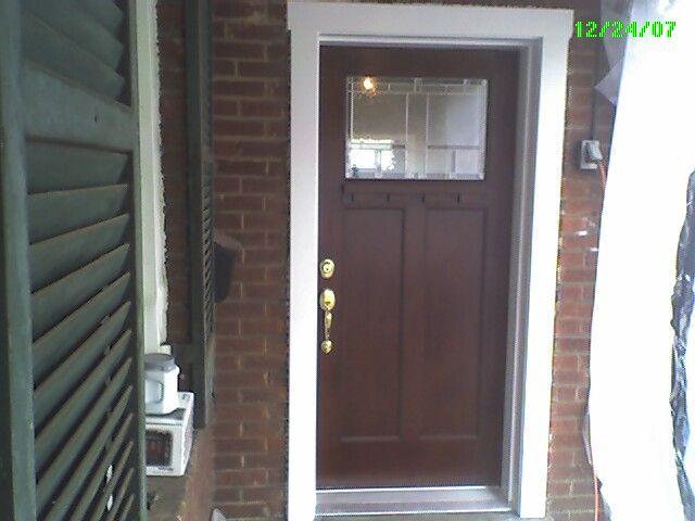 Craftsman Exterior Door Trim Completed Door With New Door