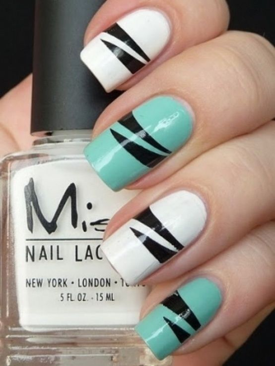 Teal, white, black & graphic