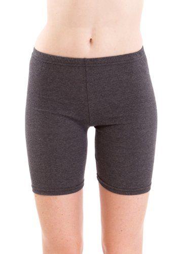 Ladies Mid Thigh Cotton Spandex Active Shorts, Multiple Colors ...