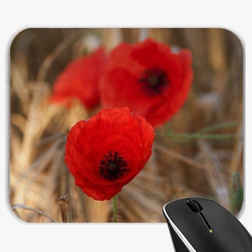 Mousepad - Poppies in a field - by UtArt