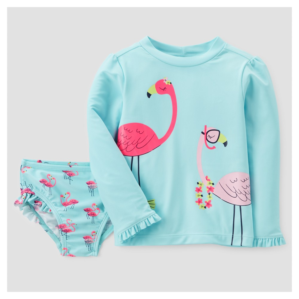 6fddf0103 Toddler Girls' Rash Guard Set - Just One You Made by Carter's Lagoon  Turquoise 18M