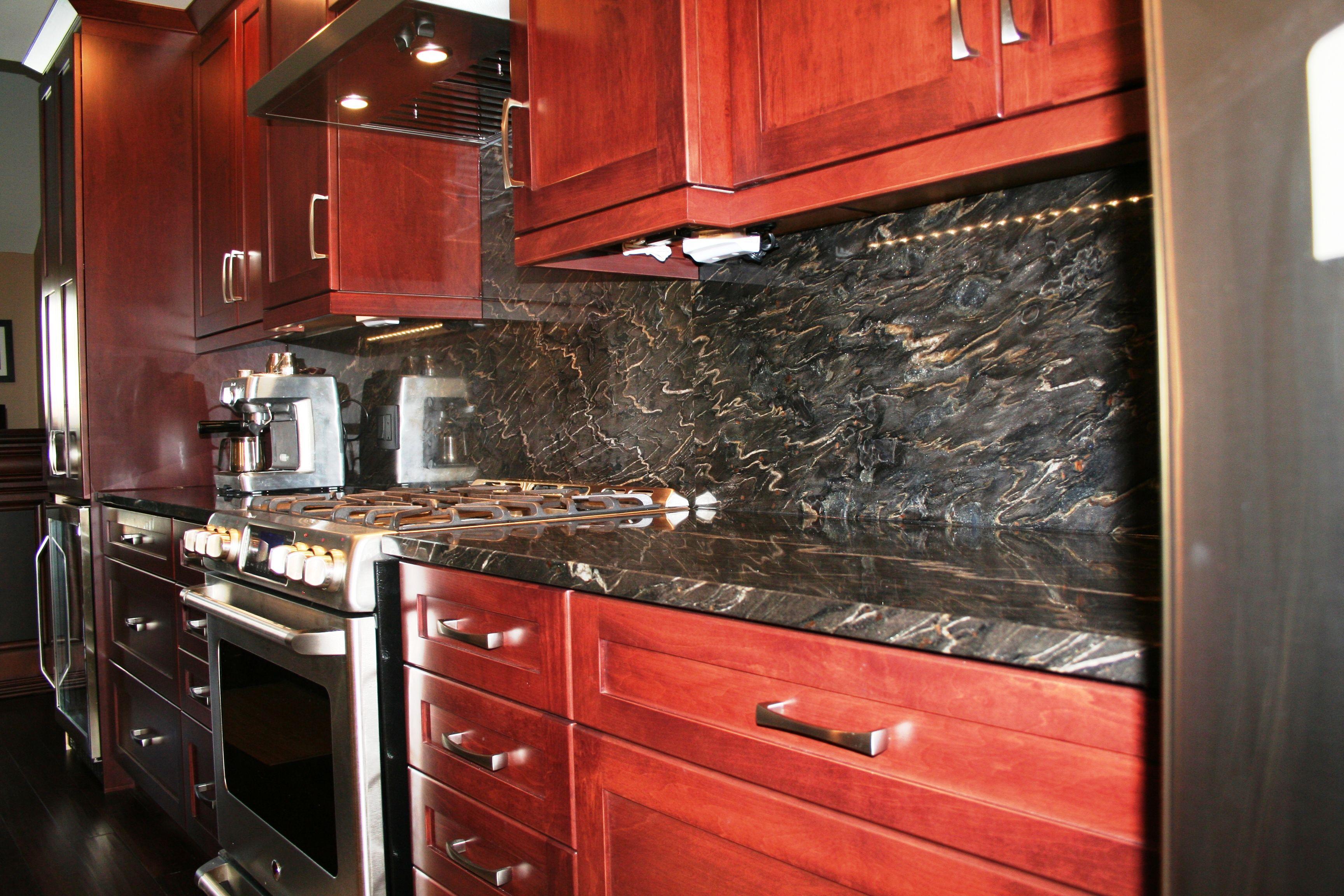 Granite Windsor Ontario - Twilight Granite Kitchen Countertop and Full Backsplash -- Dimanti Stone Works & Granite Windsor Ontario - Twilight Granite Kitchen Countertop and ...