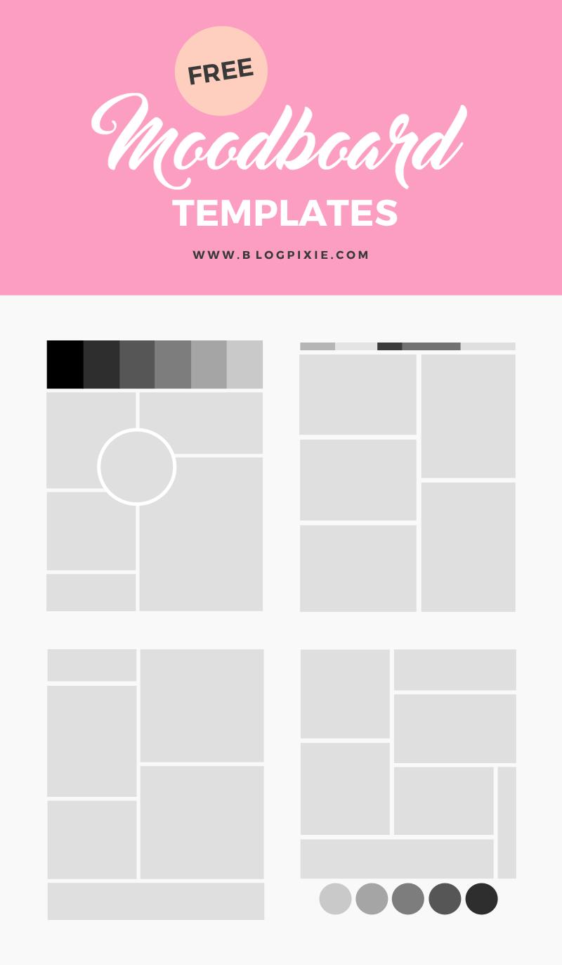 How To Create A Moodboard Free Mood Board Templates Mood Board Template Mood Board Design Mood Board Inspiration