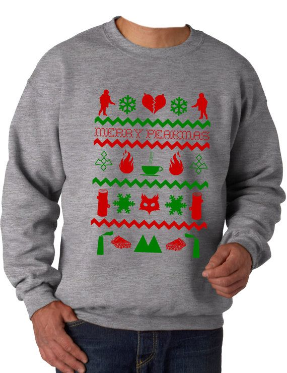 Twin Peaks Inspired Christmas Awdis Sweatshirt 80 Cotton Twin