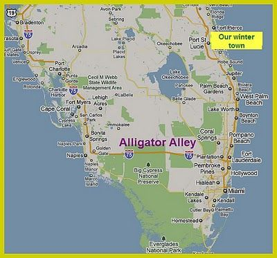 Alligators In Florida Map Alligator Alley Florida Map | Florida Map 2018