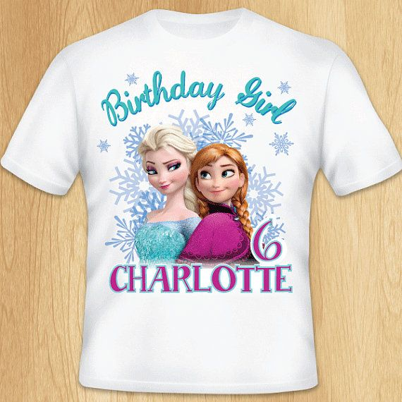 Personalized Frozen Group Birthday T-Shirt