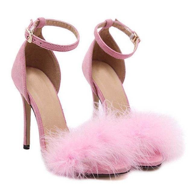 Soft pink lace up heels | Skor, Högklackade skor, Väskor