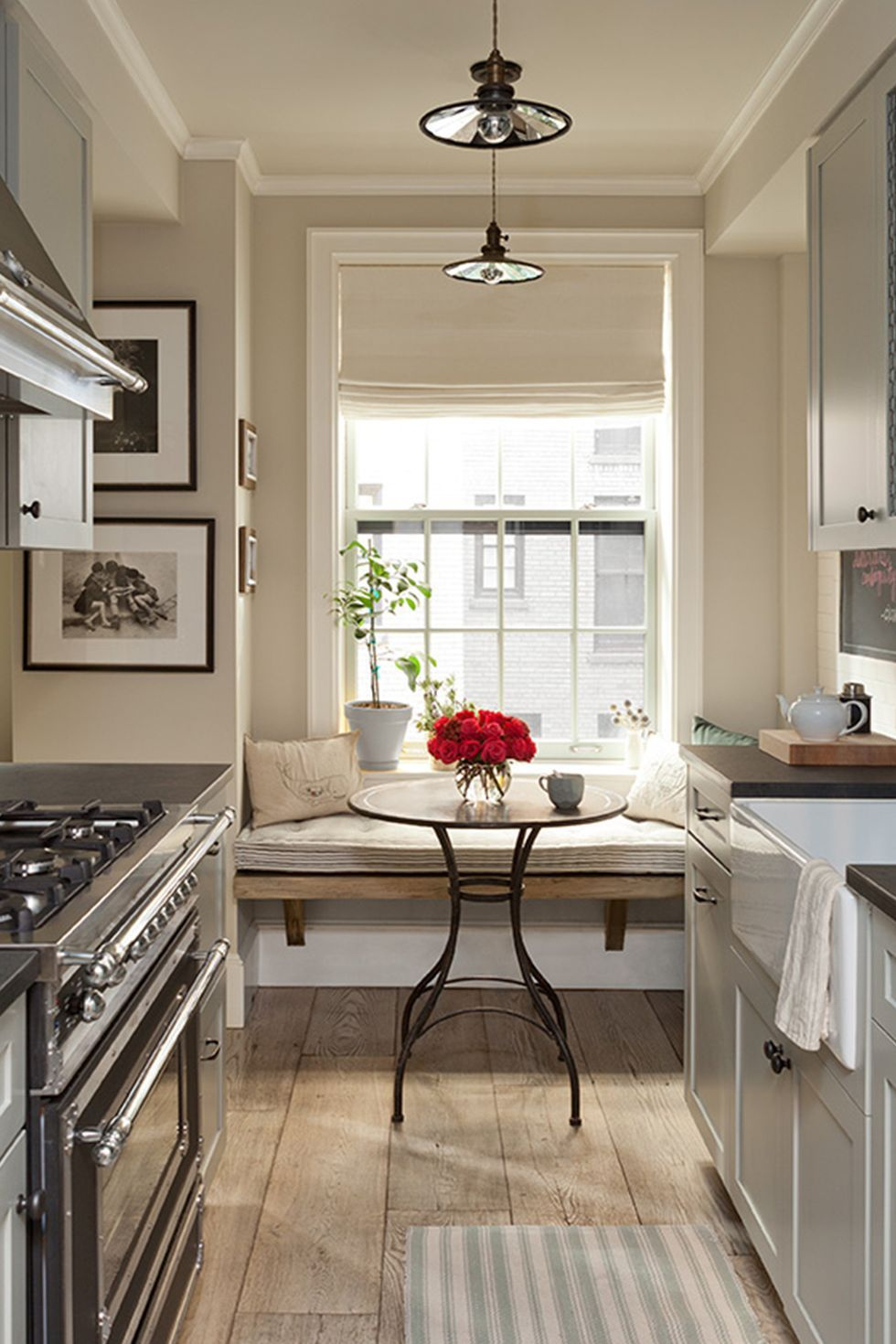 15 timeless eat in kitchens that inspire small galley kitchens galley kitchen renovation eat on kitchen island ideas eat in id=35952