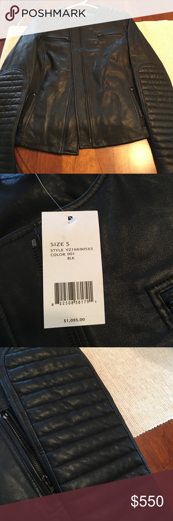 e8bf78639e2 Vince leather jacket Gorgeous black leather Vince brand Moto jacket, never  worn with tags still attached! Vince Jackets & Coats