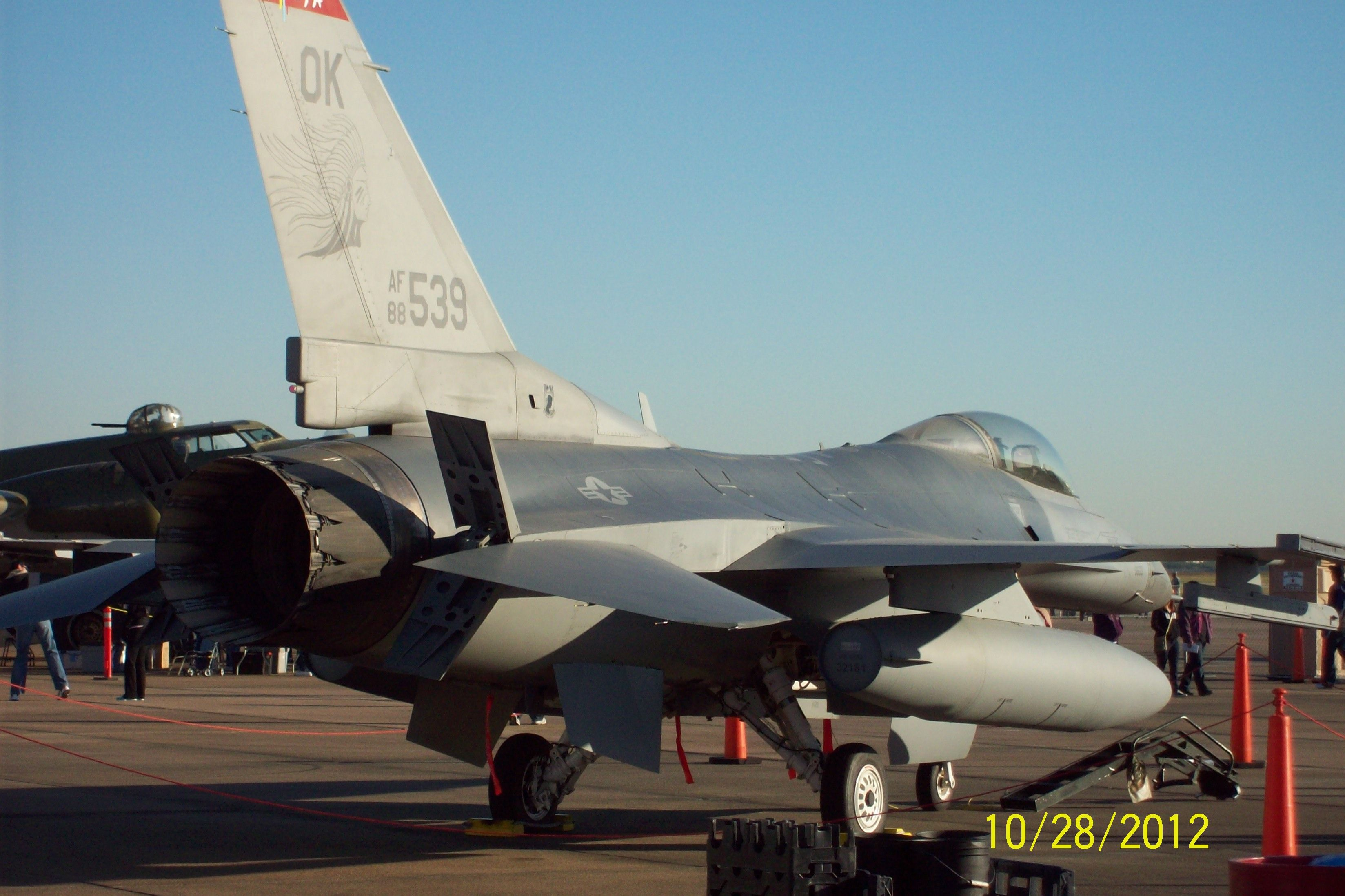 F16 Fighting Falcon air brakes extended Fighter jets